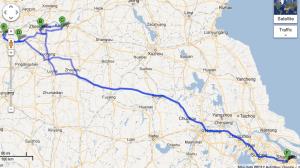 Henan Trip route