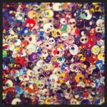 Rainbow Skulls closeup