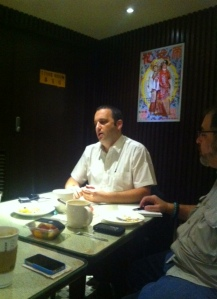 Rabbi Gilad Kariv giving a talk in Hong Kong